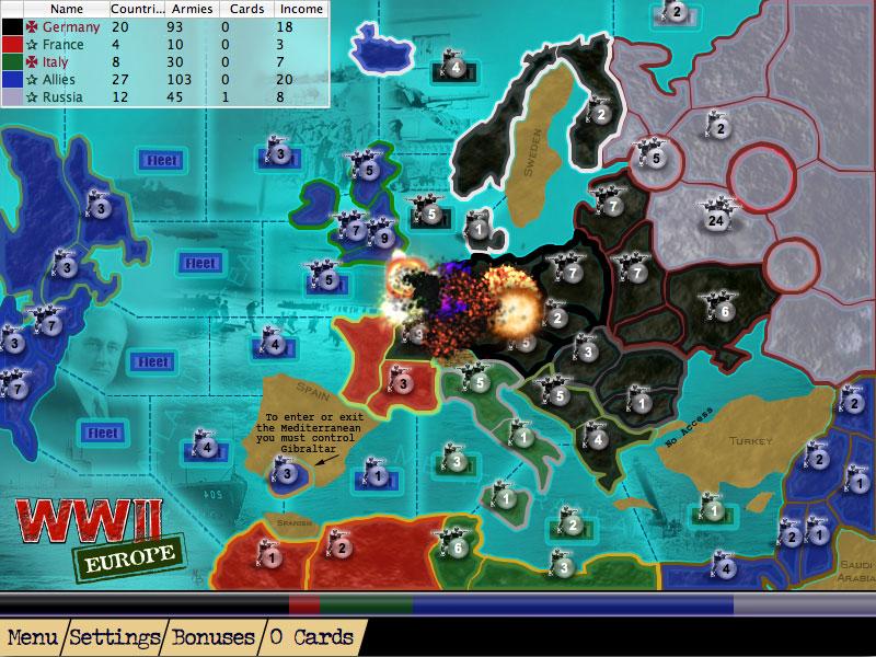 AHL WW2 Europe Map