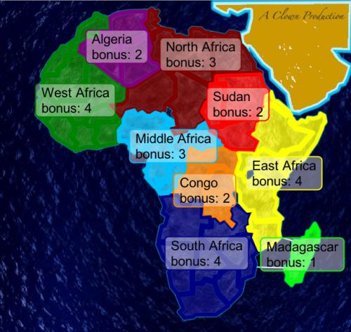 colonization of africa map